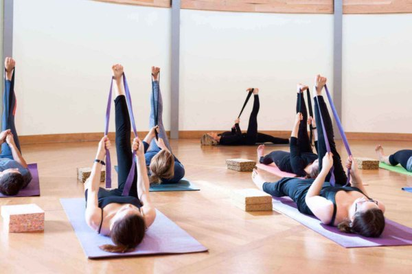 yoga aids - straps, mats and blocks