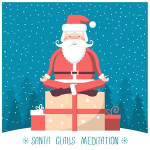 Meditating santa gift card